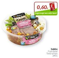 Sodebo fresh salad tonijn of ham-Sodebo