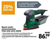 Bosch multischuurmachine psm 200 aes 200w-Bosch