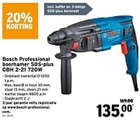 Bosch professional boorhamer sds-plus gbh 2-21 720w-Bosch