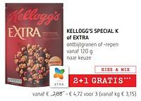 Kellogg's special k of extra ontbijtgranen of -repen-Kellogg