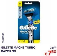 Gilette mach3 turbo razor 3d-Gillette