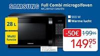 Samsung full combi microgolfoven mc28h5013ak-en-Samsung