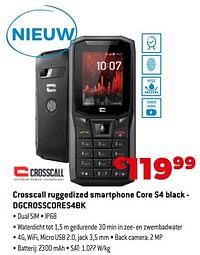 Crosscall ruggedized smartphone core s4 black - dgcrosscores4bk-Crosscall