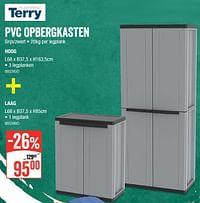 Pvc opbergkasten hoog + laag-Terry