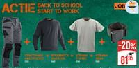 Craftsman multipocket + roundneck sweater + jobman t-shirt + jobman riem-JOBMAN