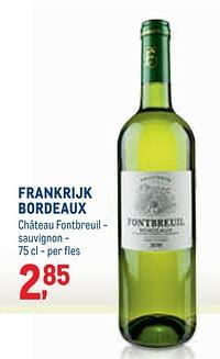 Frankrijk bordeaux château fontbreuil - sauvignon-Witte wijnen