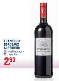 Frankrijk bordeaux supérieur château fontbreuil-Rode wijnen