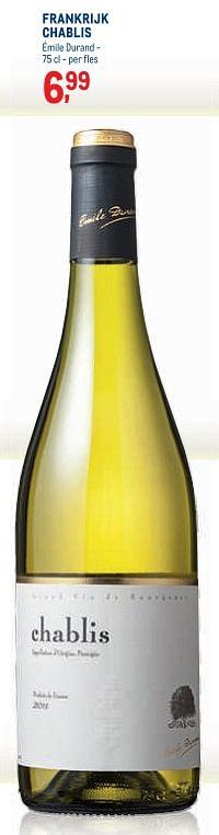 Frankrijk chablis émile durand-Witte wijnen