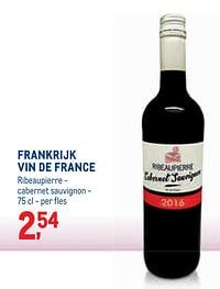 Frankrijk vin de france ribeaupierre - cabernet sauvignon-Rode wijnen