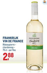 Frankrijk vin de france ribeaupierre - chardonnay-Witte wijnen