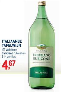 Italiaanse tafelwijn igt vallefiore - trebbiano rubicone-Witte wijnen