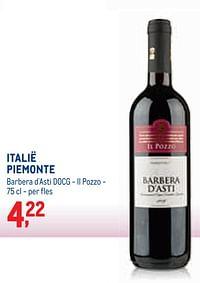 Italië piemonte barbera d`asti docg - il pozzo-Rode wijnen