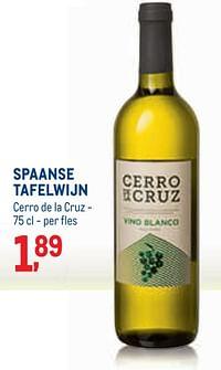 Spaanse tafelwijn cerro de la cruz-Witte wijnen