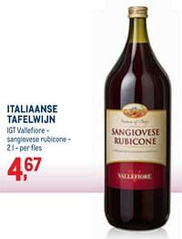 Italiaanse tafelwijn igt vallefiore - sangiovese rubicone-Rode wijnen