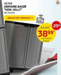Armoire basse new jolly-Keter