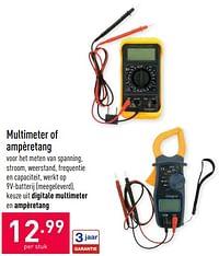 Multimeter of ampèretang-Huismerk - Aldi