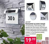Huisnummer op zonne-energie-Lightzone