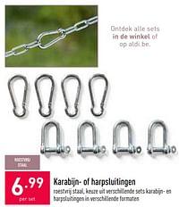 Karabijn- of harpsluitingen-Huismerk - Aldi
