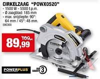 Powerplus cirkelzaag powx0520-Powerplus