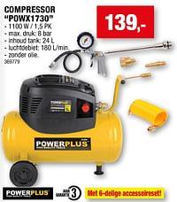 Powerplus compressor powx1730-Powerplus