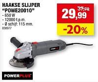 Powerplus haakse slijper powe20010-Powerplus
