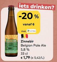 Zinnebir belgian pale ale-Zinnebir