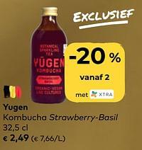 Yugen kombucha strawberry-basil-Yügen