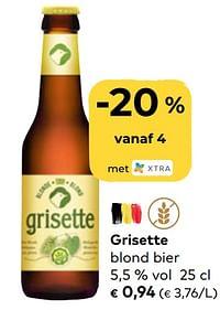 Grisette blond bier-Grisette
