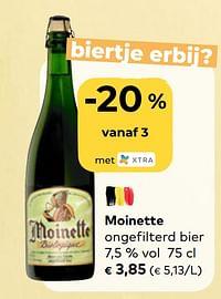 Moinette ongefilterd bier-Moinette