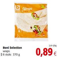 Boni selection wraps-Boni