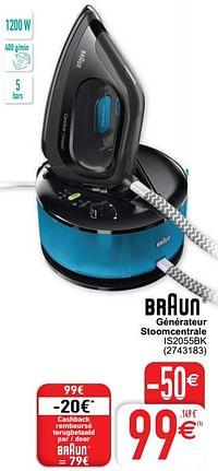 Braun générateur stoomcentrale is2055bk-Braun