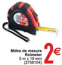 Mètre de mesure rolmeter-Huismerk - Cora