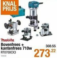 Makita bovenfrees + kantenfrees rt0700cx3-Makita