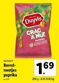 Borrelnootjes paprika-Duyvis