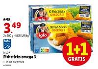 Fishsticks omega 3-Iglo