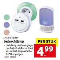 Lednachtlamp-Livarno