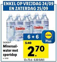Mineraalwater met sportdop-Saskia
