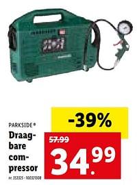 Parkside draagbare compressor-Parkside