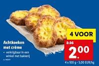 Achtkoeken met crème-Huismerk - Lidl