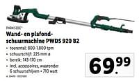 Parkside wand- en plafondschuurmachine pwds 920 b2-Parkside