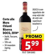 Corte alle mura chianti riserva docg, 2014-Rode wijnen