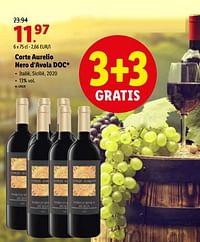 Corte aurelio nero d'avola doc-Rode wijnen