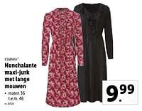 Nonchalante maxi-jurk met lange mouwen-Esmara