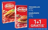 Frikandellen beckers + hamburgers beckers 1+1 gratis-Beckers