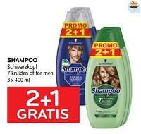 Shampoo schwarzkopf 2+1 gratis-Schwarzkopf