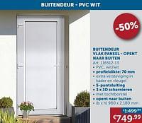 Buitendeur vlak paneel - opent naar buiten-Huismerk - Zelfbouwmarkt