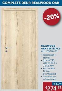 Complete deur realwood oak realwood oak verticale-Huismerk - Zelfbouwmarkt