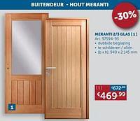 Meranti 2-3 glas-Huismerk - Zelfbouwmarkt
