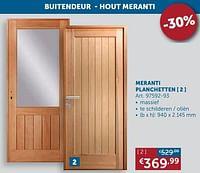 Meranti planchetten-Huismerk - Zelfbouwmarkt
