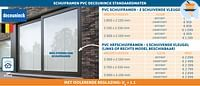 Pvc schuiframen - 2 schuivende vleugels-Huismerk - Zelfbouwmarkt